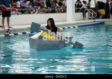 Brooklyn Technical High School 39 S Cardboard Boat Regatta In The Stock Photo Royalty Free Image