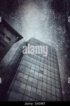 office block textured background - Stock Photo