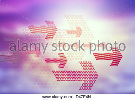 graphic arrows - Stock Photo