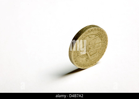 A Pound Coin On Its Edge Stock Photo Royalty Free Image