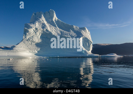 Grounded icebergs, Rode O (Red Island), Scoresbysund, Northeast Greenland, Polar Regions - Stock Photo