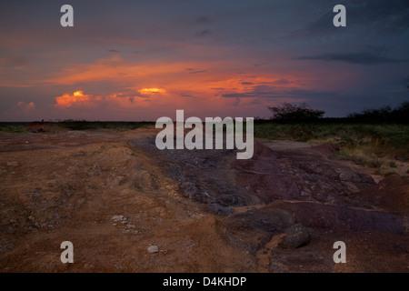 Landscape in Sarigua national park, Herrera province, Republic of Panama. - Stock Photo