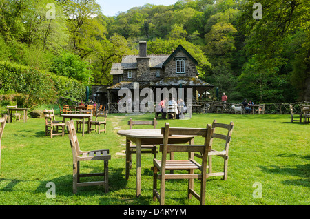 Watersmeet house tea room by the east lyn river at for Garden rooms near me