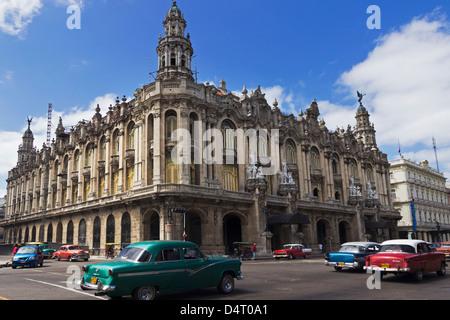 Gran Teatro de la Habana (National Theatre) Parque Central Havana Cuba - Stock Photo