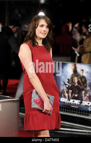 Guest attends the G.I JOE UK Premiere on 18/03/2013 at The Empire Leicester Square, London. Persons pictured:  Picture - Stock Photo
