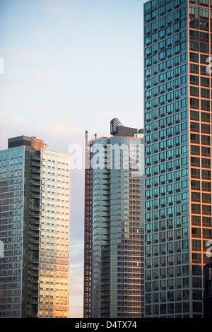 Windows of urban skyscrapers - Stock Photo