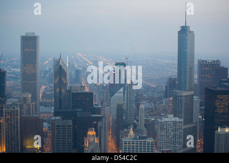 Chicago from the 94th floor of the John Hancock Building, Chicago, Illinois - Stockfoto