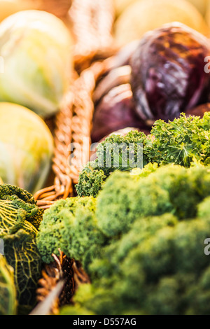 Close up of basket of vegetables - Stock Photo