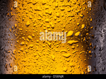Сlose shot of drops on a bottle beer. - Stock Photo