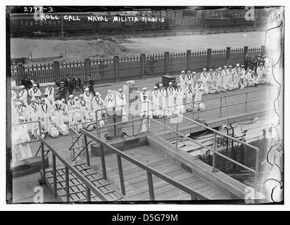 Roll Call - Naval Militia (LOC) - Stock Photo