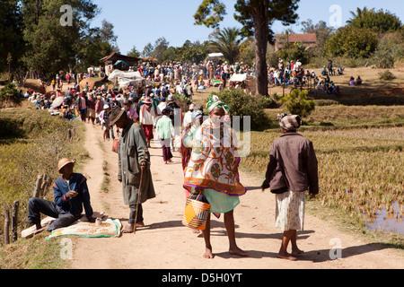Madagascar, Ambositra, Marche Sandrandahy market - Stock Photo