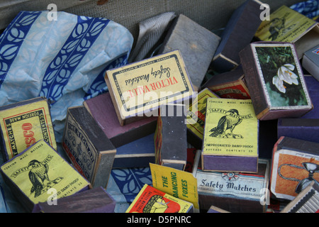Vintage matchboxes - Stock Photo