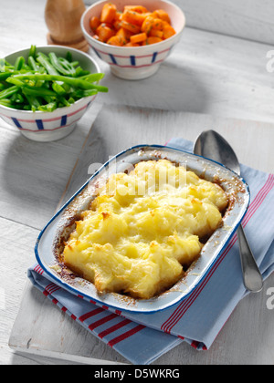 Shepherds Pie With Green Beans Stock Photo Royalty Free