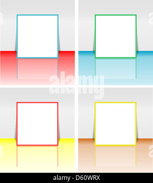 brochure holder template - white leaflet and book template stock photo royalty free
