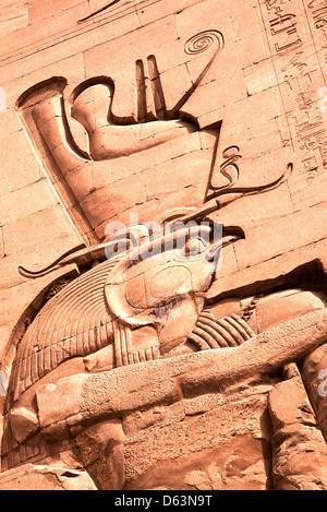 The god Horus of Edfu - Stock Photo