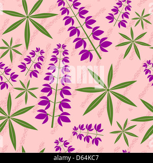 Seamless grunge floral texture 521 - Stock Photo