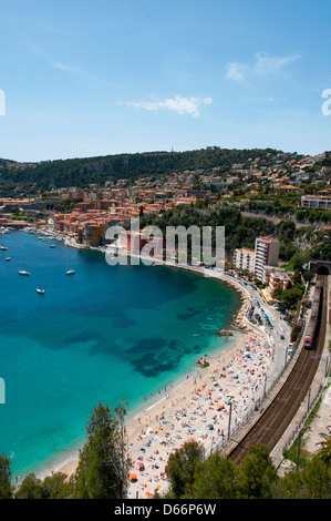 Bay of Villefranche sur Mer French Riviera France - Stockfoto