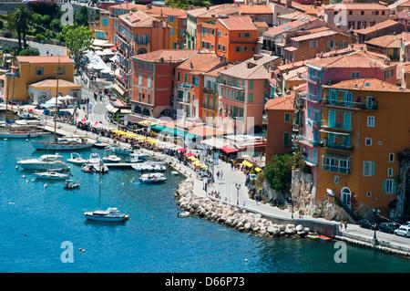 Villefranche sur mer Cote d'azur Provence France - Stockfoto