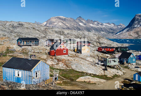 The small inuit hunting settlement tiniteqilaaq has around 120 stock photo royalty free image - The tiny house village a miniature settlement ...