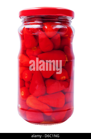 Peppers in a jar - Stock Photo
