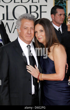US actor Dustin Hoffman and his wife Lisa Hoffman attend the 69th Annual Golden Globe Awards presented by the Hollywood - Stock Photo