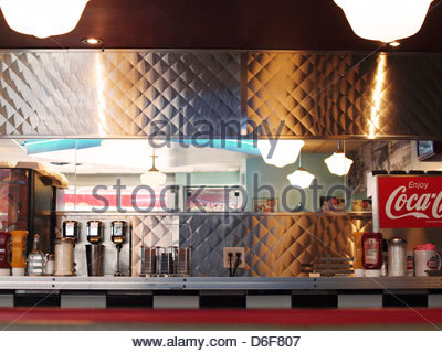 Interior Retro Bar Stools Of Chrome And Red Leather Against Vintage Stock Photo Royalty Free