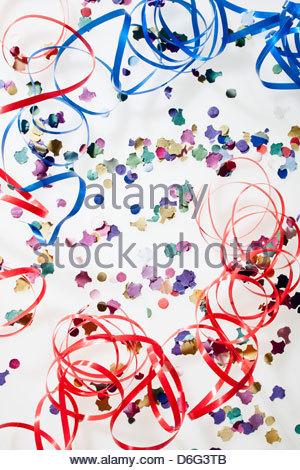 Confetti party streamers - Stock Photo