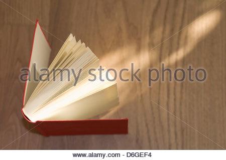 Open book wooden floor - Stock Photo