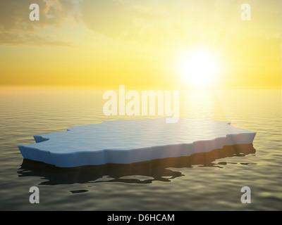 Sea ice, artwork - Stock Photo
