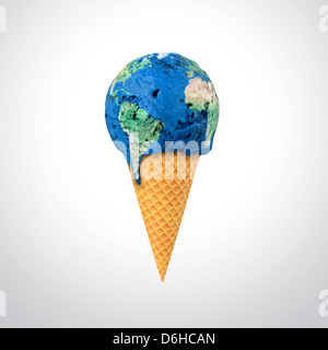 Global warming, conceptual artwork - Stock Photo