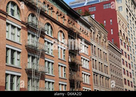 Loft Buildings, Tribeca, Manhattan, New York City, United States of America, North America - Stock Photo