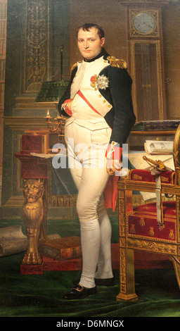 The Emperor Napoleon in his Study at the Tuileries by Jacques Louis David - Stock Photo