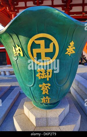 Gold Buddhist Swastika Symbol On A Giant Vase At The Sensoji Asakusa