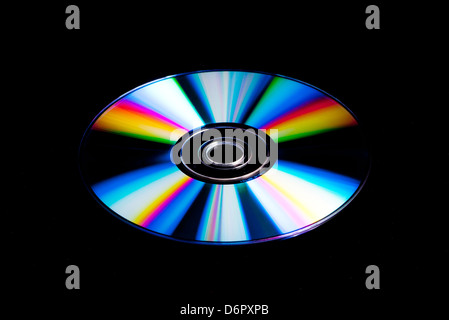 DVD, CD disk with rainbow colours - Stock Photo