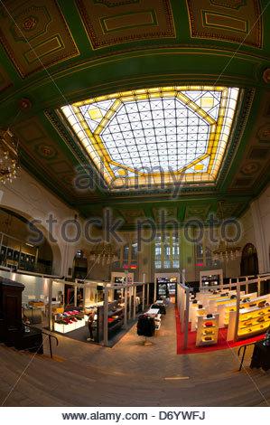 Mango Clothing Store, Leipzig Central Station, Leipzig, Saxony, Germany - Stock Photo