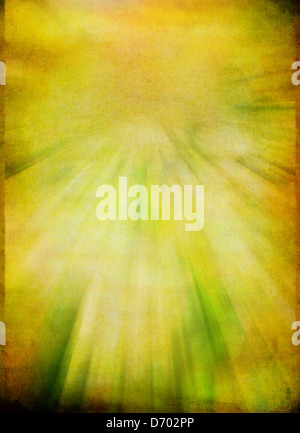 Aged parchment paper background with burst of rays - Stock Photo