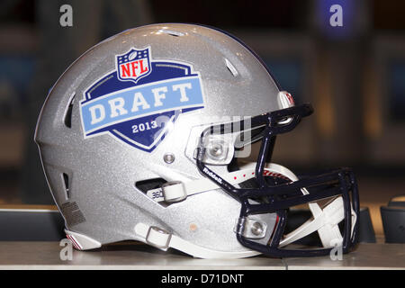 New York City, New York, USA. 25th April, 2013. The NFL Draft Helmet during the 78th National Football League Draft - Stock Photo