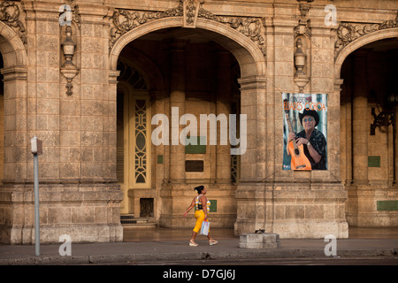 the theatre Gran Teatro de La Habana in Havana, Cuba, Caribbean - Stock Photo