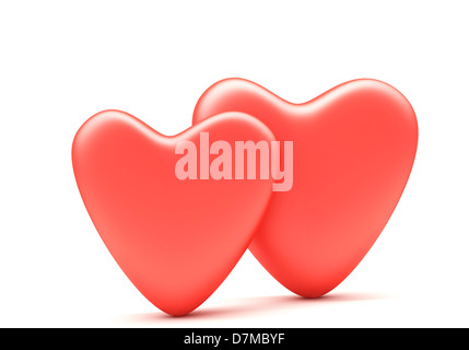 Red hearts artwork - Stock Photo