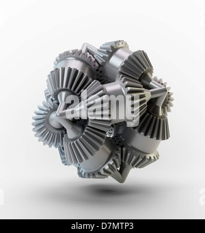 Gear wheels, artwork - Stock Photo