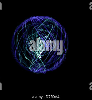 Light painting patterns - Stock Photo
