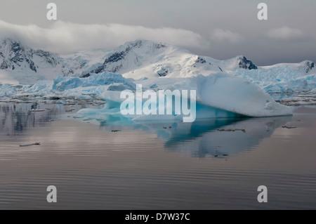 Bahia Paraiso (Paradise Bay), Antarctic Peninsula, Antarctica - Stock Photo