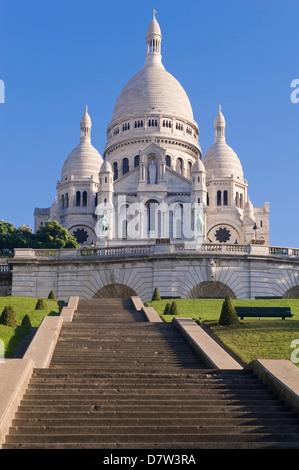 Basilica Sacre Coeur, Montmartre, Paris, France - Stock Photo