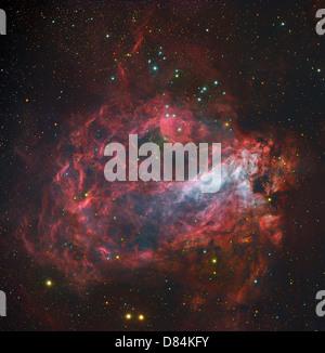 M17, The Omega Nebula in Sagittarius. - Stock Photo
