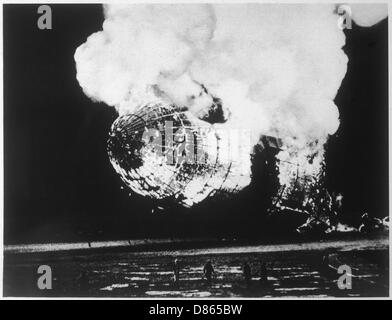Hindenburg Airship Disaster  New Jersey  Usa - Stock Photo