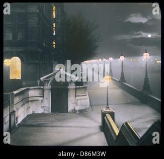 Vic Embankment Lantern - Stock Photo