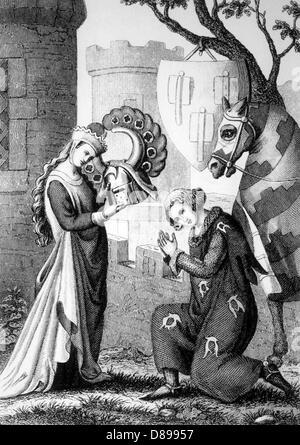 Knight Lady Helmet - Stock Photo