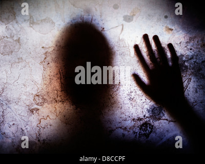 Touched by your presence. Child silhouette - Stock Photo