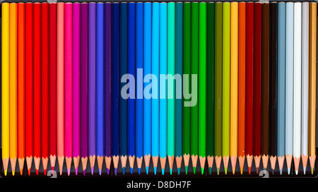 Collection of the colorful pencils - Stock Photo