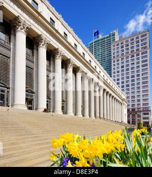 James Farley Post Office April in New York, NY. - Stock Photo